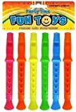 Henbrandt 6 x Mini Flutes Whistle Recorders Birthday Party Loot Bag Pinata Toys Fillers