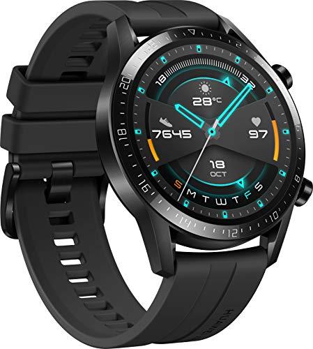 HUAWEI Watch GT 2 Smartwatch (46mm, OLED Touch-Display, Fitness Uhr mit Herzfrequenz-Messung, Musik Wiedergabe & Bluetooth Telefonie, 5ATM wasserdicht) matte black - 2