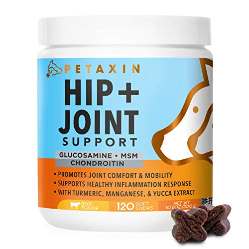 Petaxin Glucosamine for Dogs - Advanced Hip and Joint Supplement - Support for Dog Joint Pain Relief...
