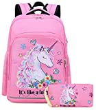 Girls Backpack Elementary Kids Fairy Bookbag Girly School bag Children Pencil Bag (Pink - Fairy tale...