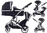 Design Enfants Kargo Duel DS Combo Tandem Double Twin Poussette New Skinnie Minnie