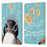 Head Case Designs Licenciado Oficialmente Animal Club International Penguin Royal Faces Carcasa de Cuero Tipo Libro Compatible con Apple iPad Mini (2019)