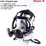 OPARYY Respirator Full Seal Protection Double Air Filter Eye Protection Respiratory Protection (Respirator +Canister)