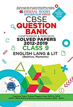 Oswaal CBSE Question Bank Class 9 English Language & Literature Chapterwise & Topicwise (For March 2020 Exam) by [Oswaal Editorial Board]