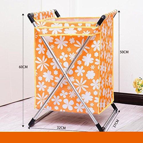 Xuan - Worth Another Orange Petites Fleurs Motif Plier Le Linge Panier de vêtements Sale Panier de conteneurs Sale Jouets Paniers à Linge Vêtements Sales Panier de Rangement Pas de Couvercle