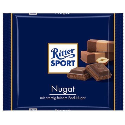Alfred Ritter: Ritter Sport Schokolade Nougat - 5 x 100 g by Alfred Ritter