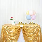 ShinyBeauty Tovaglia Paillettes Rettangolo 125 x 180 cm Tovaglia Oro Tovaglia Decorazioni per Feste Tovaglie da tavola per Matrimoni (Oro, 48x72 Pollici)