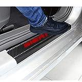 SENYAZON Car Threshold Pedal Sticker for GMC Sierra Truck Decoration Scuff Plate Carbon Fibre Vinyl Sticker Car Accessories car-Styling (red)