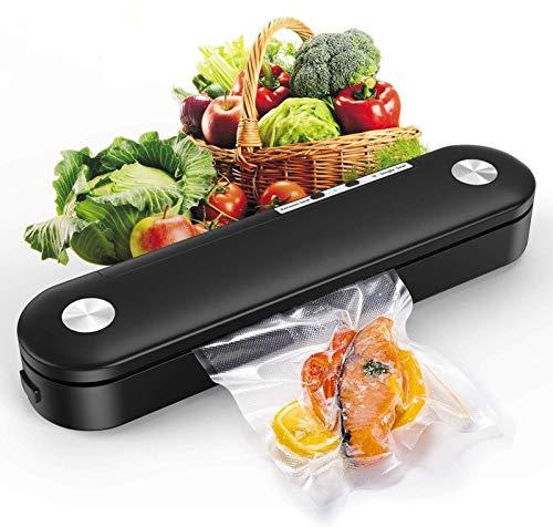 SAMEBOO Vakuumiergerät,Vakuumierer Folienschweißgerät für Trockene Feuchte Lebensmittel Beiben Mini Automatische vakuumiert bis zu 7x Länger Frisch Küche mit 10 Pcs Folienbeutel/Vakuumierbeutel