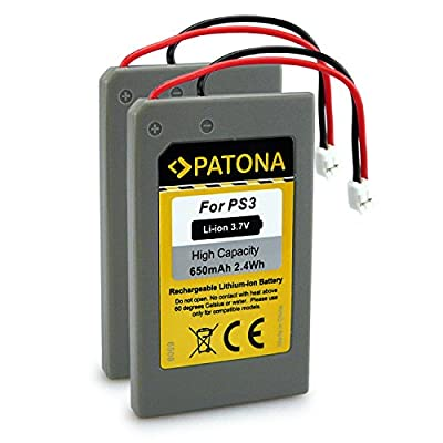 PATONA 2x Battery replaces LIP1359, LIP1859, LIP1472 compatible with Playstation 3 PS3 Controller