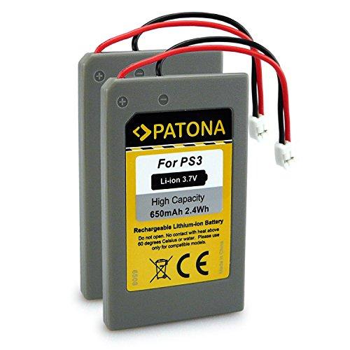 PATONA 2x Bateria reemplaza LIP1359, LIP1859, LIP1472 compatible con Sony PS3 Playstation 3 Mando Control Remote