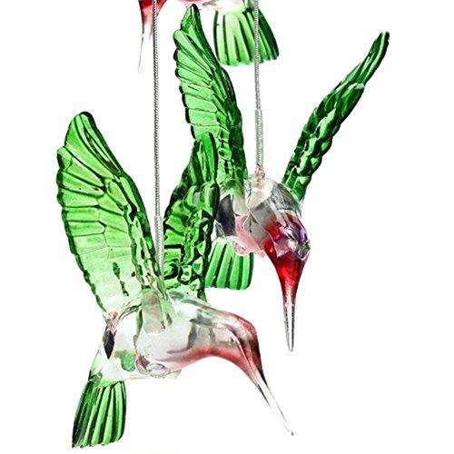 Solar-Windspiel, Kolibri, farbwechselnd, wasserfest, solarbetrieben, Nachtlicht, Dekoration, Hängende Laterne für den Außenbereich 130mmx600mm Wie abgebildet