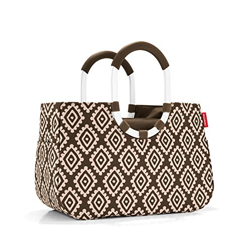 Reisenthel loopshopper M Diamonds Mocha Maße: 40 x 26 x 20 cm/Volumen: 12 l
