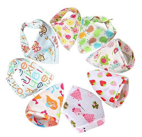 Bebedou , 3 paquetes de la flor de la chica de espaldas en ropa con estilo de algodón con que absorbe/en estado puro pañuelo para la cabeza tipo con babero y pantalla a juego para bebés con diseño de y infantil con diseño de