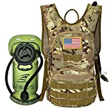 SHARKMOUTH Hydration Pack, Tactical Molle Hydration Pack Backpack 900D with 2L BPA Free Hydration...
