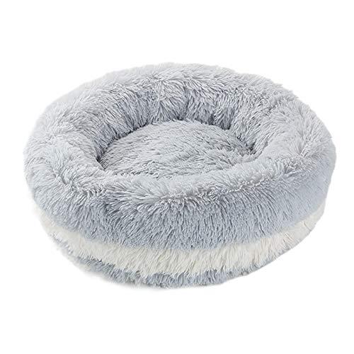 precauti Pet Nest Peluche Ciambella Pet Letto Soffice Peluche Pet Letto Cuscino Cuddle Accogliente Pet Nido Pet Divano per Dormire Inverno Fondo Antiscivolo