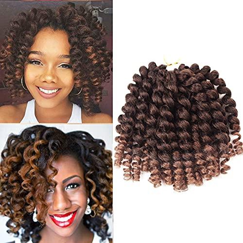 Crochet Braids Hair NO TANGLE 2X Ringlet Wand Curl 3Packs 8inch Jamaican Bounce curl Twist Braiding Hair extension freetress crochet Hair(1B/30)