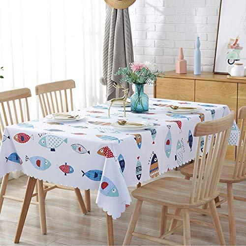 XIAOE Mantel de PVC Limpiar Limpiar Vinilo Cubiertas de Mantel de Halloween Mantel de plástico Impermeable A Prueba de Aceite Cuadrado Rectángulo Cocina Comedor Mesa Buffet Decoración 40 * 60cm