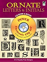 Ornate Letters and Initials CD-ROM and Book (Dover Electronic Clip Art)