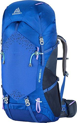 GREGORY Women's Amber 60 Backpack, Pearl Blue, REG