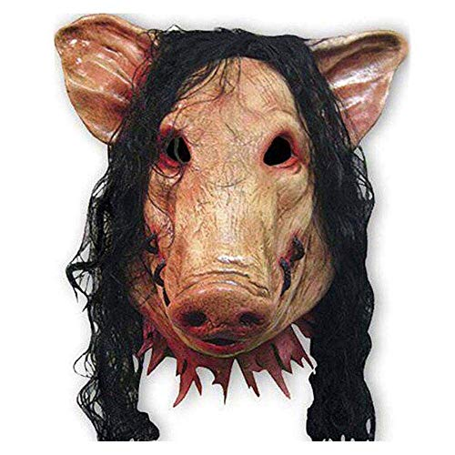 Máscaras de Halloween Horror cerdo Animal máscara de látex cerdo máscara del traje de Halloween de miedo Sierra eléctrica cerdo máscara principal completa del horror del mal Animal Prop 3 máscaras de