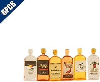 Comidox 6Pcs/Set 1:12 Dollhouse Miniature Wine Whiskey Bottles Model Shop Pub Bar Drink Doll House Play Food Accessory