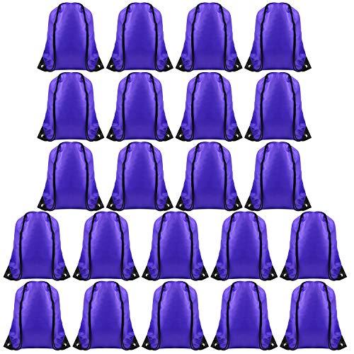 FEPITO 22 Pack Bolsas de Cordones Cadena Mochila Bolsa de Asas a Granel Bolsa de cincha Bolsas Deportivas para Gimnasio Viajar (Blue 2)