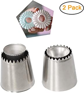 2 Pack Russian Piping Tips Set Sultan Tip Nozzle Baking Ring Cookies Mold Kits Wilton Cake Decorating Supplies Best Kitchen Gift