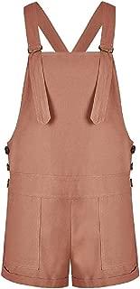 Women Casual High-Rise Vintage Pure Playsuit Jumpsuit Shortalls