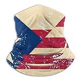 XCNGG Unisex Americano y Puerto Rico Retro Bandera Microfibra Polaina Cuello Cabeza Envoltura Casual Boy Headwear Bufanda para Deporte