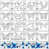 16 Stencil di Farfalla Modello di Farfalla Riutilizzabile Stencil di Pittura Artistica per Dipingere da Parete di Craft Pavimento in Tessuto Fai da Te Decorazioni di Casa Segni di Legno