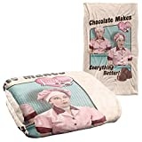 Trevco I Love Lucy Friends and Chocolate Silky Touch Super Soft Throw Blanket 36' x 58'