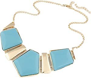necklace for Women of metal Golden color with colored forms item NO 1124 - 13 - 5