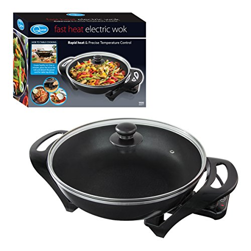 Quest 35870 Electric Non-Stick Wok with Lid - Rapid Heating with Precise...