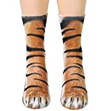 Animal Paws Socks,Novelty Animal Socks Crazy 3D Cat Dog Tiger Paw Socks Funny Gift for Men Women