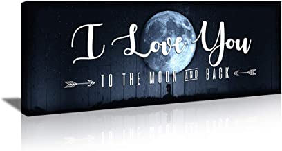KuyiArt-Home Décor Canvas Wall Art Decorative Signs I Love You Canvas Prints Poster for Home Living Room Bedroom Modern Wa...