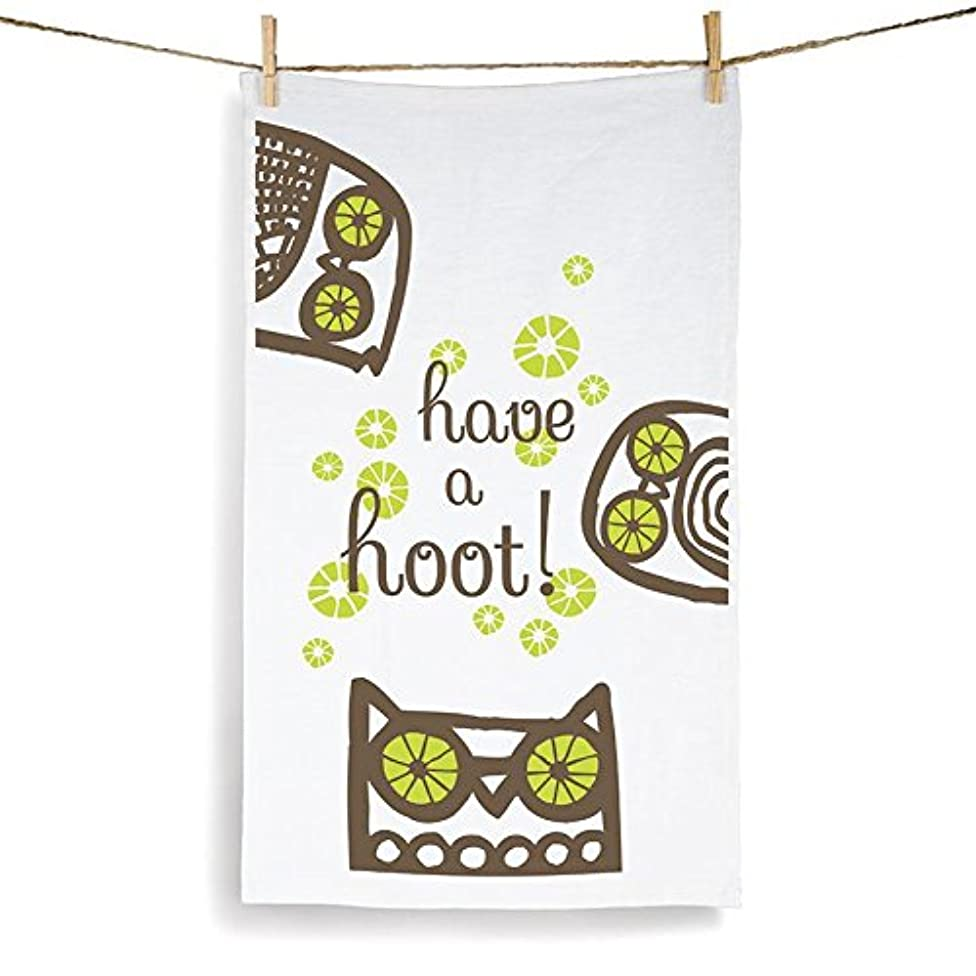 Kitsch'n Glam Set of 2 Tea Towels 55% Linen 45% Cotton (Owl)