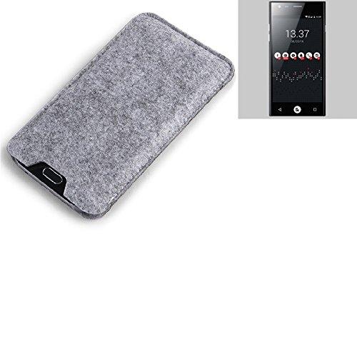 K-S-Trade® Filz Schutz Hülle Für ID2ME ID1 Schutzhülle Filztasche Filz Tasche Case Sleeve Handyhülle Filzhülle Grau