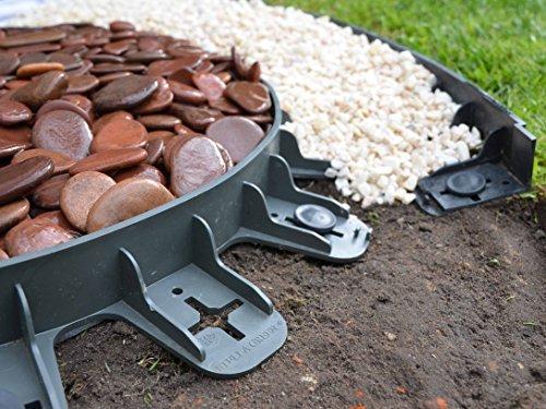 Best4Garden - Bordeado de Plástico Reciclado para Jardín que No Requiere Excavado - Negro 60mm - Disponible en una variedad de tamaños de paquetes Fácil Instalación con Clavijas Incluidas - Forma recta, también puede doblarse para ajustarse a curvas - Seguro y flexible borde plástico - Crea una separación clara y definida - Puede usarse para bordear césped, flores, caminos de losetas, árboles, caminos de gravilla o piedra o cualquier sendero. - Sin clavos extra