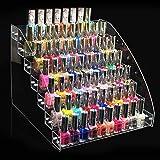 Zerone Organizador de esmalte de uñas acrílico, transparente y transparente para esmalte de uñas (siete capas)