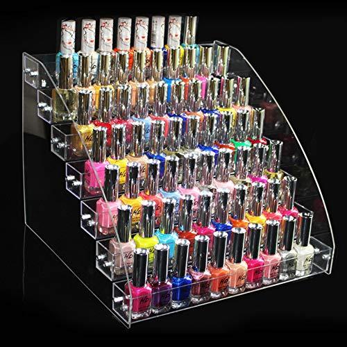 Zerone Acryl-Nagellack-Regal, transparenter Nagellack-Organizer, Ständer für Schreibtisch, Make-up-Behälter, plastik acryl metall, Seven Layers