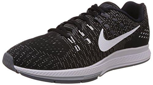 Nike Air Zoom Structure 19, Zapatillas de Running para Hombre, Negro/Blanco/Gris (Black/White-Dark Cl Grey), 42 1/2 EU