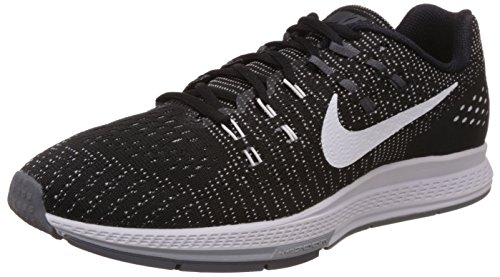 Nike Womens Air Zoom Structure 19 Running Shoe, Black/White-Dark Grey, 8
