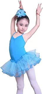 Children's Gymnastics Exercise Clothes Tutu Children's Dance Costume Girls Ballet Skirt (Color : Blue, Size : 130cm)