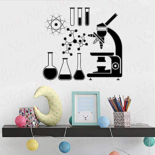 yaofale Wandaufkleber Vinylaufkleber l Mikroskop Wissenschaft Wissenschaftler Chemie Schule Aufkleber