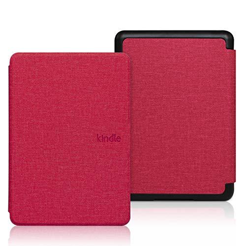 Funda de patrón de tela de color sólido para todo nuevo Kindle 10th - Auto Sleep Wake E-book Shell, Ultra-thin E-reader Protective Cover,E-reader Cover For Kindle Paperwhite 2/3/4 Hard Cover For Pape