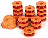 Eventronic Replacement 10ft Grass Trimmer Line Spool, Compatible with Worx String Trimmers...