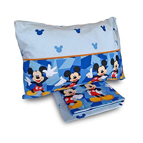 G. & C. Enterprise Completo Lenzuola Disney Mickey Mouse per Letto Singolo 1 Posto 3827