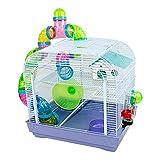 DZL® Jaula para Hamster(39.5X29.5X38CM) Color Azul/Purpura/