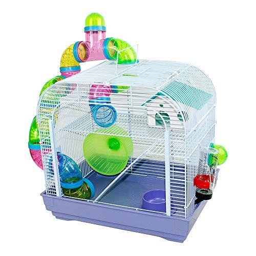 DZL Cage à hamster 29,5 x 29,5 x 38 cm